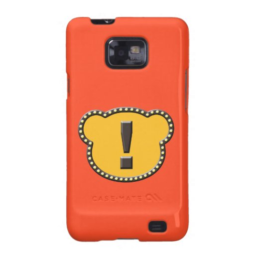 Bear Head Exclamation Mark Galaxy SII Covers