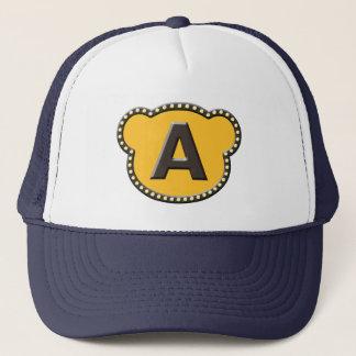 Bear Head Initial A Trucker Hat