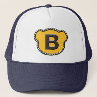 Bear Head Initial B Trucker Hat
