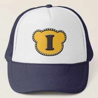 Bear Head Initial I II Trucker Hat
