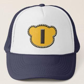 Bear Head Initial I Trucker Hat