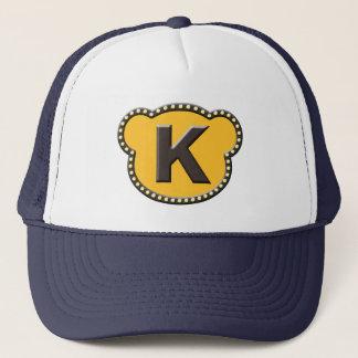 Bear Head Initial K Trucker Hat