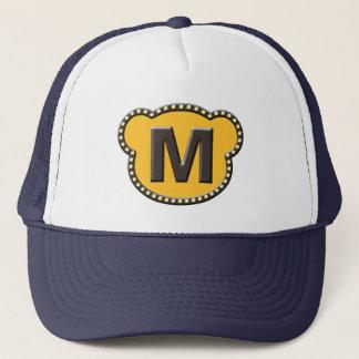 Bear Head Initial M Trucker Hat