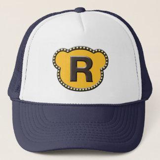 Bear Head Initial R Trucker Hat