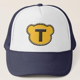 Bear Head Initial T Trucker Hat