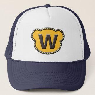 Bear Head Initial W Trucker Hat
