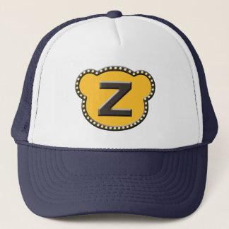 Bear Head Initial Z Trucker Hat