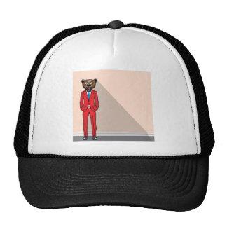 Bear head man vector illustration trucker hat