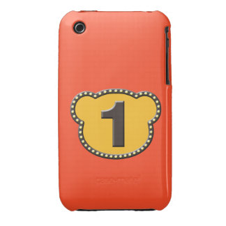 Bear Head Number 1 Case-Mate iPhone 3 Cases