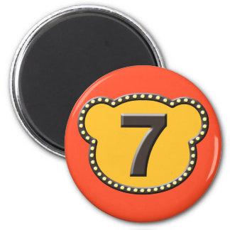 Bear Head Number 7 Magnet