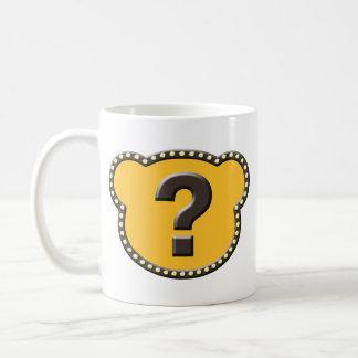 Bear Head Question Mark Classic White Coffee Mug