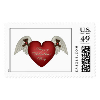 bear heart2 postage stamps