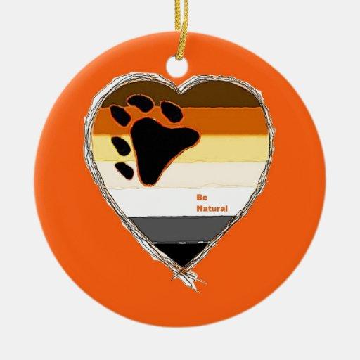 Bear Heart Christmas Ornaments