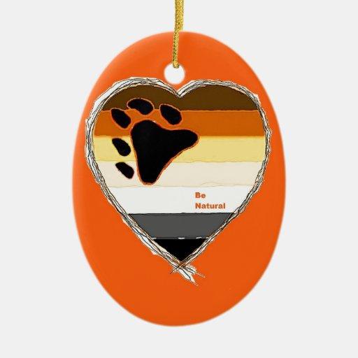 Bear Heart Ornaments