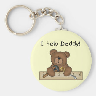 Bear Helps Daddy Tshirts and Gifts Key Chains