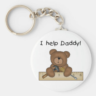 Bear Helps Daddy Tshirts and Gifts Keychains