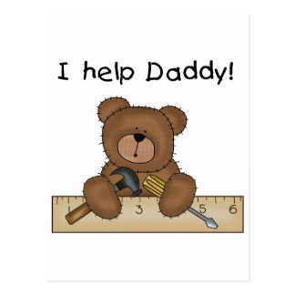 Bear Helps Daddy Tshirts and Gifts Postcard