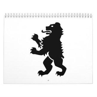 Bear heraldry calendar