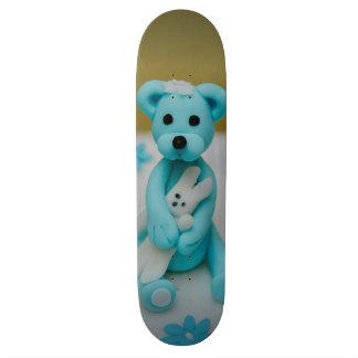 Bear holding a bunny cake topper skateboard decks