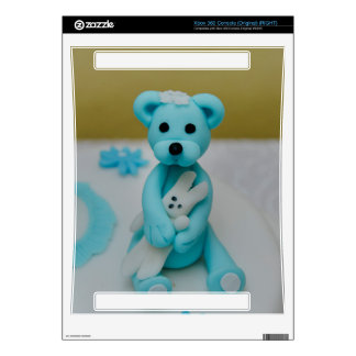 Bear holding a bunny cake topper xbox 360 console decals