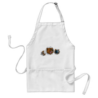 Bear Holding Bowling Ball Breaking Background Adult Apron