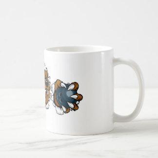 Bear Holding Bowling Ball Breaking Background Coffee Mug