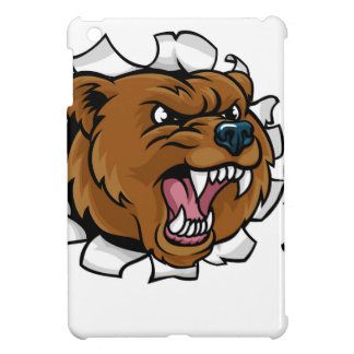 Bear Holding Soccer Ball Breaking Background iPad Mini Cover