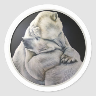Bear Hug Classic Round Sticker