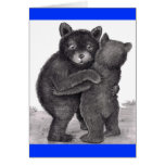 Bear Hug. Two bears hugging out in nature Greeting Cards