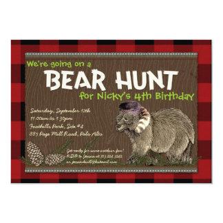 "Bear Hunt Adventure Party Invitation 5"" X 7"" Invitation Card"