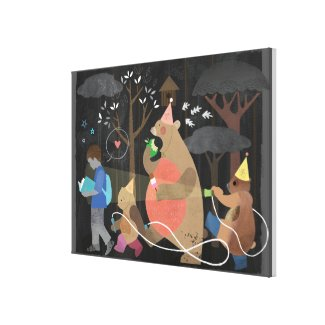 Bear hunt Canvas Print! Canvas Print