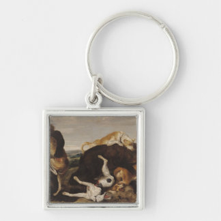 Bear Hunt or, Battle Between Dogs and Bears Keychain