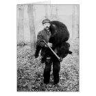 Bear hunter, 1909 card