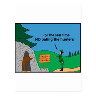 Bear hunters postcard