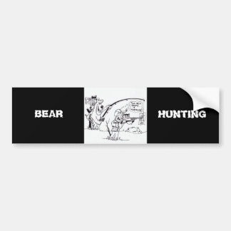 BEAR HUNTING BUMPER STICKERS