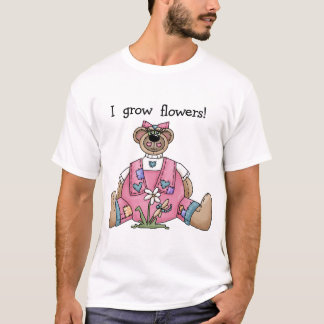 Bear I Grow Flowers T-shirts and Gifts
