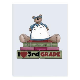 Bear I Love 3rd Grade Tshirts and Gifts Postcard