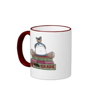 Bear I Love 4th Grade Ringer Mug