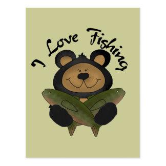 Bear I Love Fishing Tshirts and Gifts Postcard