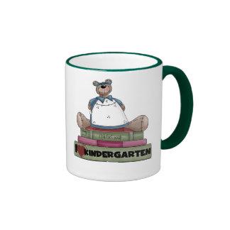 Bear I Love Kindergarten Ringer Mug