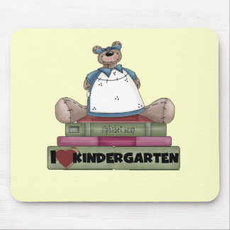 Bear I Love Kindergarten Tshirts and Gifts Mouse Pad