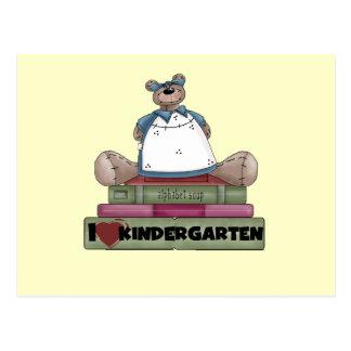 Bear I Love Kindergarten Tshirts and Gifts Postcard
