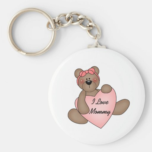 Bear I Love Mommy Key Chain