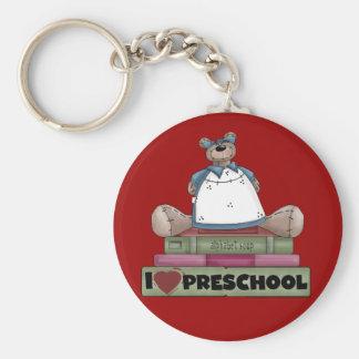 Bear I Love Preschool Tshirts and Gifts Keychain