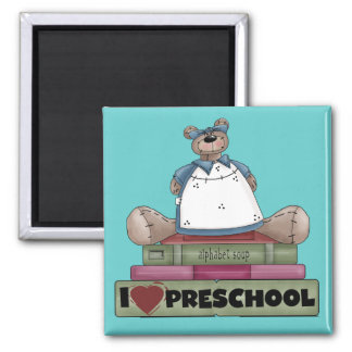 Bear I Love Preschool Tshirts and Gifts Magnet