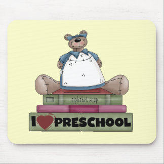 Bear I Love Preschool Tshirts and Gifts Mouse Pads