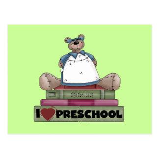 Bear I Love Preschool Tshirts and Gifts Postcard