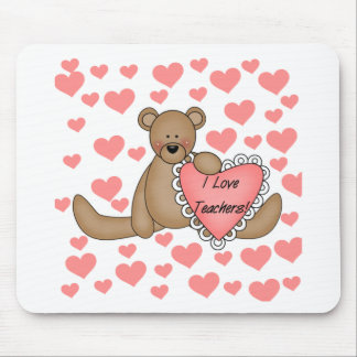 Bear I Love Teachers Tshirts and Gifts Mouse Pad