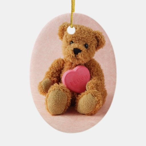 bear i luv u oval ornament