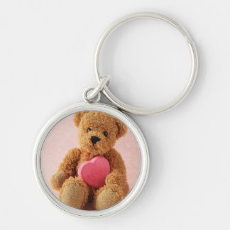 bear i luv u premium round keychain